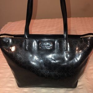 Kate Spade Black Patent Leather Tote Handbag